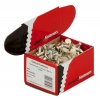 No. 12 (4.1mm x 7.9mm) Tinmens Rivets - Flat Head - Steel Tin Plated - Click for more info